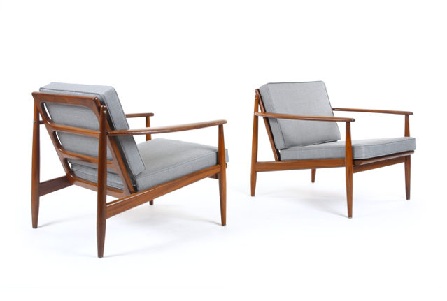 Grete Jalk Afromosia armchairs